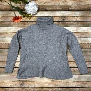 Boden grey cropped turtle neck long sleeve